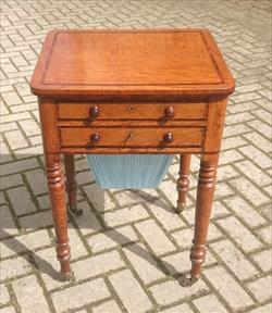 Oak antique sewing table.jpg