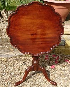 Antique Absolutly Fabulous Georgian Mahogany Tea Table 24w 26h _9.JPG