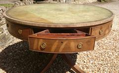 Antique George III Period Mahogany Drum Library Table 29½H 45½ wide _10.JPG