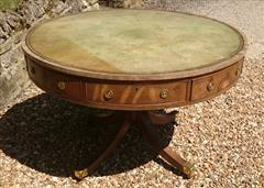 Antique George III Period Mahogany Drum Library Table 29½H 45½ wide _17.JPG