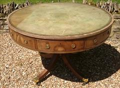 Antique George III Period Mahogany Drum Library Table 29½H 45½ wide _6.JPG