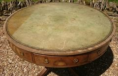 Antique George III Period Mahogany Drum Library Table 29½H 45½ wide _14.JPG