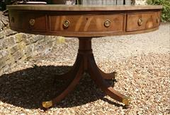 Antique George III Period Mahogany Drum Library Table 29½H 45½ wide _18.JPG