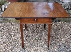 Antique 18th Century George III Mahogany Pembroke Table 30d 22w 43w 28½h _12.JPG