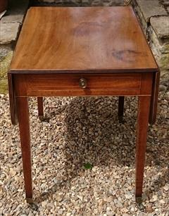 Antique 18th Century George III Mahogany Pembroke Table 30d 22w 43w 28½h _26.JPG
