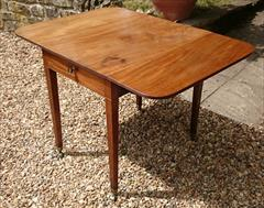 Antique 18th Century George III Mahogany Pembroke Table 30d 22w 43w 28½h _6.JPG
