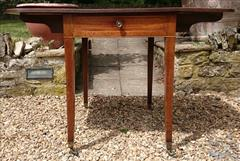 Antique 18th Century George III Mahogany Pembroke Table 30d 22w 43w 28½h _8.JPG