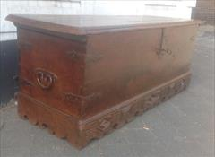 Antique 17th18th C Walnut Chest Coffer 184cm wide 61½ deep 70cm high _7.JPG