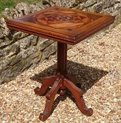Antique Arts And Crafts Wine Table Pine and Oak 23d 23w 29½h _1.JPG