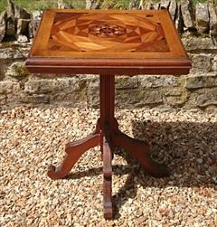 Antique Arts And Crafts Wine Table Pine and Oak 23d 23w 29½h _2.JPG