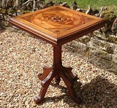 Antique Arts And Crafts Wine Table Pine and Oak 23d 23w 29½h _3.JPG