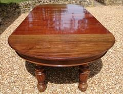 Antique Attrib Gillow Extending Mahogany Victorian Dining Table 5ft round 29h one leaf 7ft two leaves 9ft or 11ft or 13ft or 14ft or 16ft with new leaf _28.JPG
