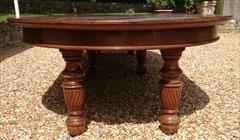 Antique Attrib Gillow Extending Mahogany Victorian Dining Table 5ft round 29h one leaf 7ft two leaves 9ft or 11ft or 13ft or 14ft or 16ft with new leaf _29.JPG