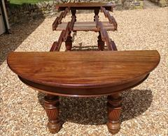 Antique Attrib Gillow Extending Mahogany Victorian Dining Table 5ft round 29h one leaf 7ft two leaves 9ft or 11ft or 13ft or 14ft or 16ft with new leaf _39.JPG