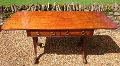 Antique 19th Century Regency Antique Sofa Table 26d 60½or36w 28½ _2.JPG