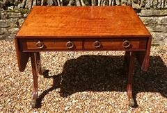 Antique 19th Century Regency Antique Sofa Table 26d 60½or36w 28½ _21.JPG