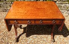 Antique 19th Century Regency Antique Sofa Table 26d 60½or36w 28½ _22.JPG