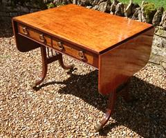 Antique 19th Century Regency Antique Sofa Table 26d 60½or36w 28½ _25.JPG