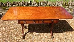 Antique 19th Century Regency Antique Sofa Table 26d 60½or36w 28½ _9.JPG