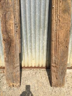 05092017Antique Early Fire Surround Or Door Uprights _4.JPG