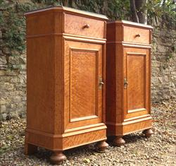 Maple antique bedside cupboards with marble tops.jpg