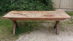 05092017Antique 18thCentury Elm and Sycamore Refectory Table 33w 87w 29h _4.jpg