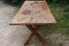 05092017Antique 18thCentury Elm and Sycamore Refectory Table 33w 87w 29h _8.jpg