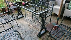 09102017Antique Cast Iron Table Base _4.JPG