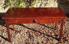 0711201719th Century Mahogany Antique Console Table 31h 28½d 61w _2.JPG