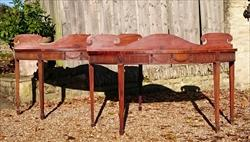 0811201719th Century pair of Mahogany Antique Serving Tables 27d 7½ gallery 72½ w _1.JPG