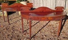 0811201719th Century pair of Mahogany Antique Serving Tables 27d 7½ gallery 72½ w _14.JPG