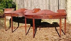 0811201719th Century pair of Mahogany Antique Serving Tables 27d 7½ gallery 72½ w _2.JPG