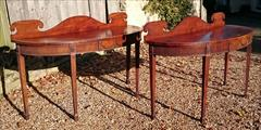 0811201719th Century pair of Mahogany Antique Serving Tables 27d 7½ gallery 72½ w _3.JPG