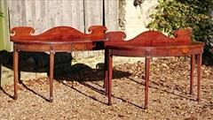 0811201719th Century pair of Mahogany Antique Serving Tables 27d 7½ gallery 72½ w _5.JPG
