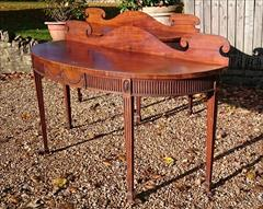 0811201719th Century pair of Mahogany Antique Serving Tables 27d 7½ gallery 72½ w _7.JPG