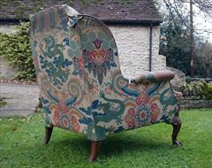 1611201719th Century Antique Howard and Sons Amchair 37d max 32d legframe 31w 18h seat 38½h max _8.JPG