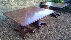 120120183 Pedestal 19th Century Mahogany Antique Dining Table 94w 11½ feet w max 52d 28½ h with caster repair _37.JPG