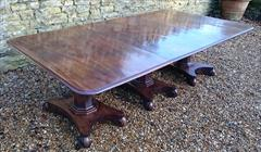 120120183 Pedestal 19th Century Mahogany Antique Dining Table 94w 11½ feet w max 52d 28½ h with caster repair _5.JPG