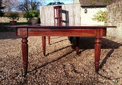 1801201819th Century Extending Antique Dining Table James Winter Mahogany 66w 57½L 177L 29h leaves 24½ 24 24½ 24½ 9½ 12 Leaf Holder 13½w 31½d 74h 111701 _38.JPG
