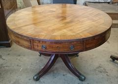 2001201818th Century Drum Table Mahogany Top 48w 47d 30h _1.JPG