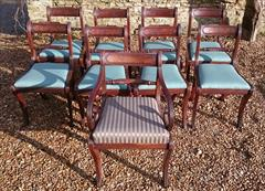 260120189 19th Century Regency Mahogany Dining Chairs Single 31h 18w 20d 17½h carver 31h 20w 21d wrong height _11.JPG