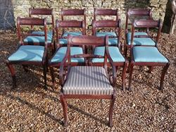 260120189 19th Century Regency Mahogany Dining Chairs Single 31h 18w 20d 17½h carver 31h 20w 21d wrong height _1.JPG