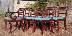 260120189 19th Century Regency Mahogany Dining Chairs Single 31h 18w 20d 17½h carver 31h 20w 21d wrong height _10.JPG