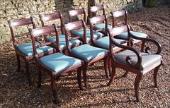 260120189 19th Century Regency Mahogany Dining Chairs Single 31h 18w 20d 17½h carver 31h 20w 21d wrong height _3.JPG