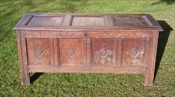 17th Century William And Mary Period Oak Antique Coffer 23d 60w 26h _1.JPG