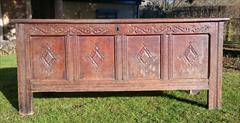 1902201817th Century William And Mary Period Oak Antique Coffer 23d 60w 26h _3.JPG