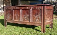 1902201817th Century William And Mary Period Oak Antique Coffer 23d 60w 26h _7.JPG