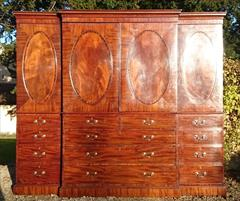 Mahogany antique linen press.jpg