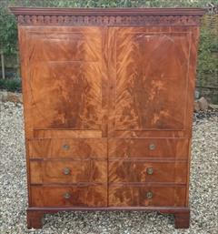 Flame mahogany antique wardrobe.jpg