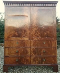Flame mahogany antique wardrobe1.jpg